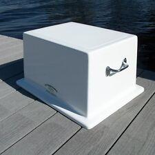 """Fiberglass Step Box - 12""""H X 21.25""""W X 17.25""""D - Boat Dock Deck Storage - CMS01"""