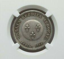 1814 FRANCE FRANCIS I OF AUSTRIA SILVER ESSAI FRANC NGC MS-61