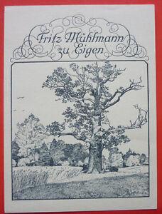 "Exlibris, Bookplate ""Fritz Mühlmann"" Landschaft, Baum"