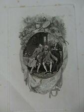 1816  ENGRAVING DIAGONAL CREASE   CLANDESTINE MARRIAGE  !