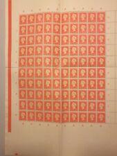 Rare 1948 Dutch Ned Indies 50th Anniv. Reign of Queen Wilhelmina Stamp Sheet