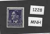 #1228     MNH 1944 stamp 84 Gr + 1 ZL / Adolph Hitler / Poland / Third Reich