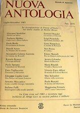 NUOVA ANTOLOGIA LUG.-SETT. 1985 FASC. 2155 (RICORDO DI AQUARONE) LE MONNIER