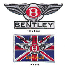 BENTLEY Aufnäher Aufbügler Patch 2 Stück Automobil Rolls Royce England