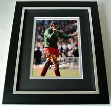 Ray Clemence SIGNED 10X8 FRAMED Photo Autograph Display Liverpool PROOF & COA