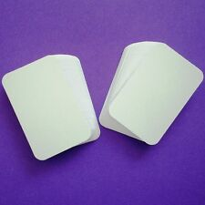100 x White ROUNDED Corner Blank Business Cards - 250gsm Ultra White Card