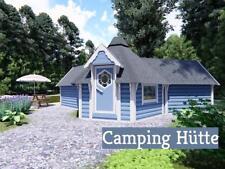 Camping Hütte Pavillon Gartenhaus Blockhaus Gerätehaus Holz, 45mm 383869