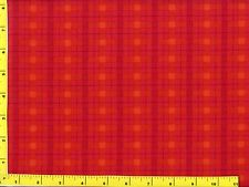 Red & Yellow Christmas Plaid Quilting Fabric by Yard  #3106