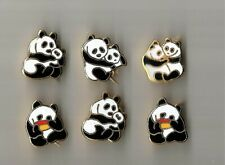 6 cute fullmetal brochepins with pandas