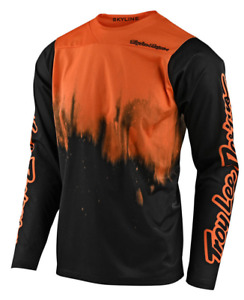TROY LEE DESIGNS MENS TANGELO BLACK SKYLINE DIFFUZE L/S MTB JERSEY S M L XL 2X