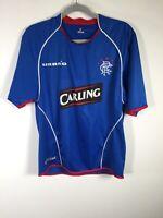 Glasgow Rangers FC 2005-2006 Home Jersey football size M Umbro short sleeve Mens