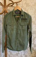 Superdry Top Shirt Military Army Khaki Green Size XXS (4/6) superdry Surplus NY