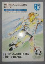 Programm 1.FC Magdeburg HFC Chemie Halle 18.5.1990 DDR Oberliga FCM Stadionheft