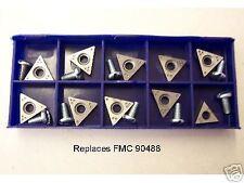 FMC 601 Brake Lathe Cutting Tips Bit Box 90488 10 Bits w/Screws