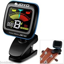 JMT-03 Clip-on 360° Rotation LCD Guitar Tuner Metronome for Bass Violin Ukulele