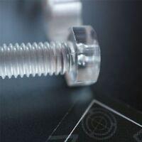 30 x Acrilico Bulloni e Dadi M8 x 40mm in Plastica Trasparente - Acrilico Viti