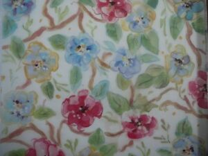 "12X12"" Vellum Red & Blue Blossom Flowers from It Takes Two new"