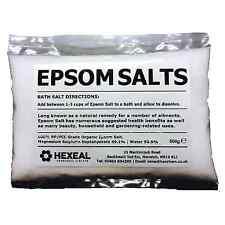 EPSOM SALT   500g BAG   Pharmaceutical   Food Grade   Magnesium Sulphate