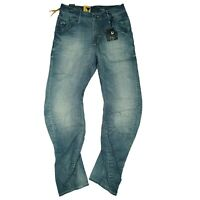 G-Star Arc 3D Loose Tapered Herren Jeans Hose 29/32 W29 L32 used look blau NEU