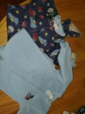 Lot Of 2 Boys Fleece Footed Pajamas Size 3t