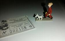 Figurine Pixi Tintin à la valise