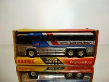 BUDDY L TIN TOY COACH BUS GREYHOUND - AMERICRUISER L19.0cm - VERY GOOD IN BOX