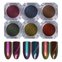 Chameleon Cat Eye Nail Glitter Powder Magic Mirror Nail Art Pigment Born Pretty