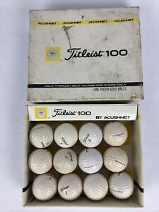 Rare Vintage Golf Ball Lot of 12 Titleist K 2 Acushnet 100 K 2 A *LOOK No Reserv