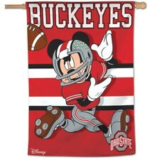 """Ohio State Buckeyes Mickey Mouse Disney 28""""X40"""" House Flag Or Wall Banner"""