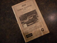 Ford Model T Manuel for Owners & Operators reprint by Floyd Clymer Enthusiasts