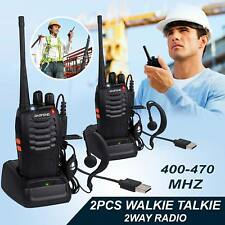 2PCS Baofeng Two Way Walkie Talkie Radio UHF 400-470 Dual Band Long Range FM
