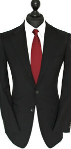 GUCCI Luxus Anzug Gr. 44 in Schwarz Schurwolle Schneidernähte edel