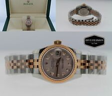 Rolex Datejust 179171PDJ Two Tone 18K Rose Gold/Stainless Steel 26mm Watch