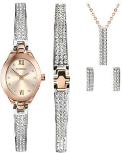 Sekonda Crystal Rose Christmas Set Ladies Watch Gift set 2924G As seen On TV