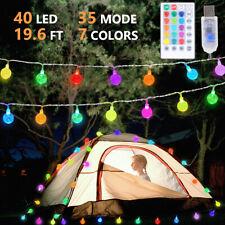 6M LED Outdoor Globe Bulb Ball Fairy String Lights 35 Modes Garden Party Xmas