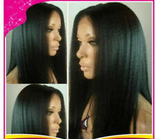 Yaki straight glueless Human Hair wigs Full Lace wigs /Lace Front Wig baby hair