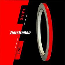 Zierstreifen 10m rot 5mm Auto Boot Jetski Modellbau Vinyl Dekorstreifen Folie