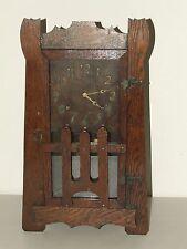 Antique Working 1920's Sessions Stickley Era Mission Oak Mantel Shelf Clock Rare