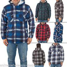 Mens Hoodie Jacket Winter Warm Casual Cardigan Fleece Top Lined Long Sleeve M XL
