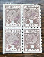 South Carolina $1.00 Documentary Block Of Four