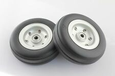 """3.00"""" Aluminum Alloy Core Natural Rubber Wheels Tires for RC Model Airplane"""