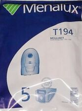 T194 MENALUX 5 sacs pour aspirateur MOULINEX POWERSTAR CN2 CN3 CN6