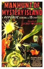 Manhunt of Mystery Island  - Classic Cliffhanger Serial Movie DVD Richard Bailey
