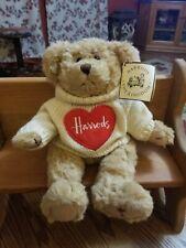"Harrods Knightsbridge Plush Teddy Bear Sweater Stuffed Animal Toy 12"" Jointed"