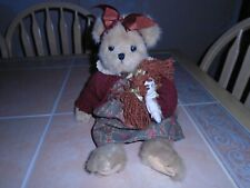 Bearington Collection Bears Annie and Rags Jointed Plush Doll #1588 Retired 2006