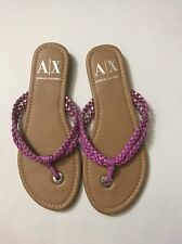 armani exchange Pink Braided thong sandals Size 7