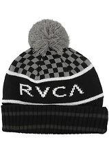 RVCA - STADIUM Mens Pom Beanie (NEW) Black VA CUFF BEENIE Cap Hat FREE SHIPPING