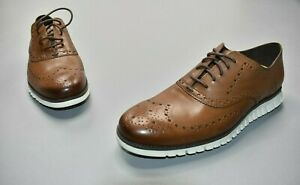 Cole Haan Men's ZeroGrand Wingtip Oxford Leather British Tan C14493
