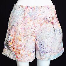 HUNTER BELL Watercolor Rainbow Floral Shorts Cruise Resort Womens Medium