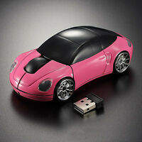 Wireless 2.4G 1600DPI 3D Car Shape Optical Mouse Mice USB Receiver for Laptop PC